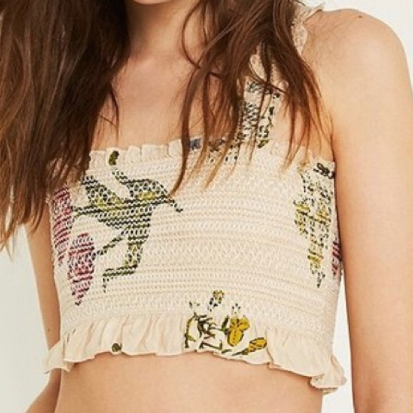 Urban Outfitters Tops - Urban Outfitters Smocked Floral Crop Top